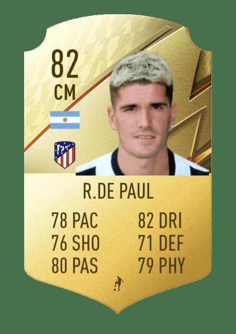 FIFA 22 medias: estas son todas las cartas del Atlético de Madrid en Ultimate Team De Paul