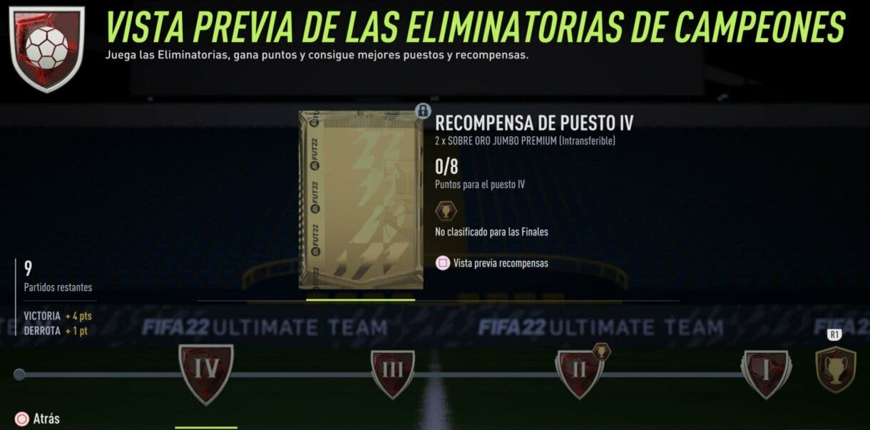 FIFA 22: lista completa de las nuevas recompensas de FUT Champions (Eliminatorias + Finales) Ultimate Team 1