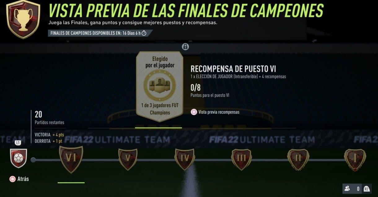 FIFA 22: lista completa de las nuevas recompensas de FUT Champions (Eliminatorias + Finales) Ultimate Team 2