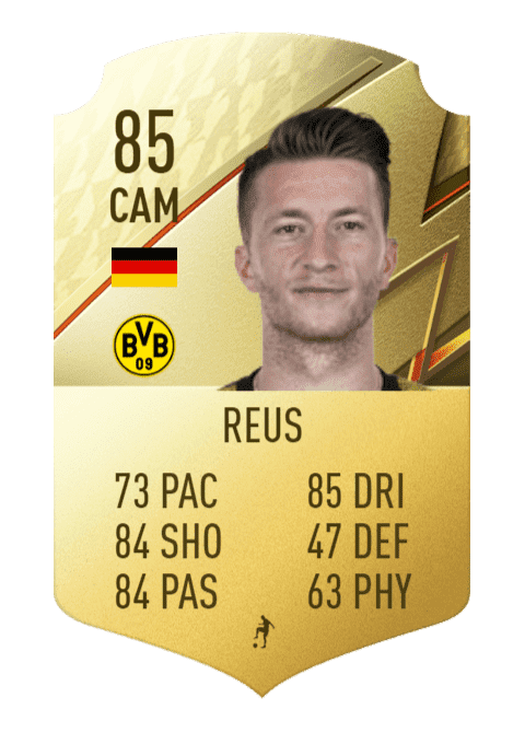 FIFA 22 medias: estas son las cartas del Borussia Dortmund Marco Reus