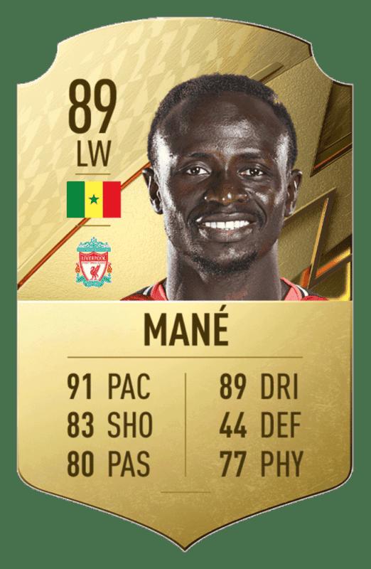 FIFA 22: revelado el top 20 de jugadores de la Premier League con mayor media Sadio Mané