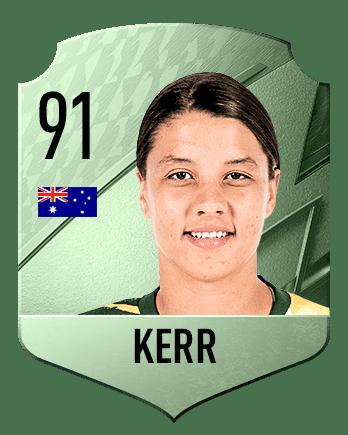 Estas son las mejores jugadoras de FIFA 22 (medias) Kerr