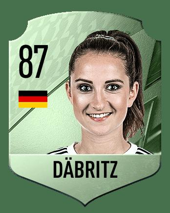Estas son las mejores jugadoras de FIFA 22 (medias) Däbritz