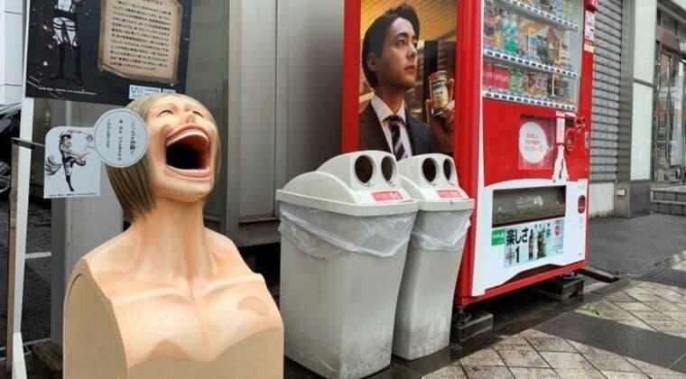 Imagen de Japón instala cubos de basura de Shingeki no Kyojin para promover el reciclaje y la limpieza