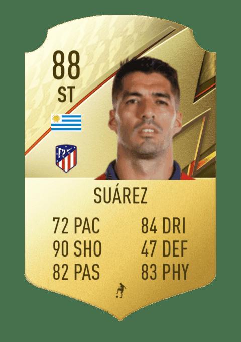 FIFA 22 medias: estas son todas las cartas del Atlético de Madrid en Ultimate Team Luis Suárez