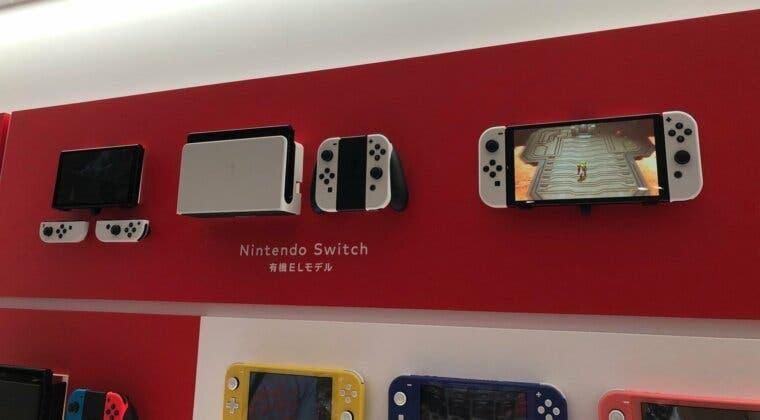 Imagen de Estas son las primeras imágenes en vivo de Nintendo Switch OLED; una tienda ya expone la consola