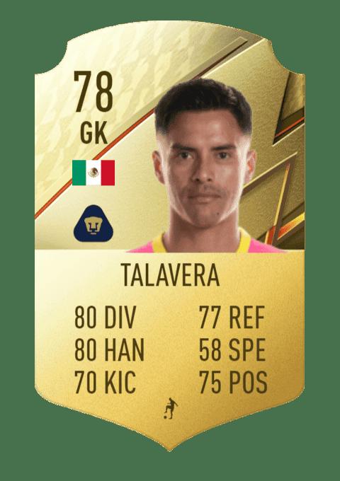 FIFA 22 medias: estas son las mejores cartas de la Primera División de México (Liga BBVA MX) Ultimate Team Talavera