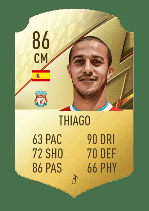 FIFA 22 medias: los mejores regateadores de Ultimate Team y Modo Carrera Thiago