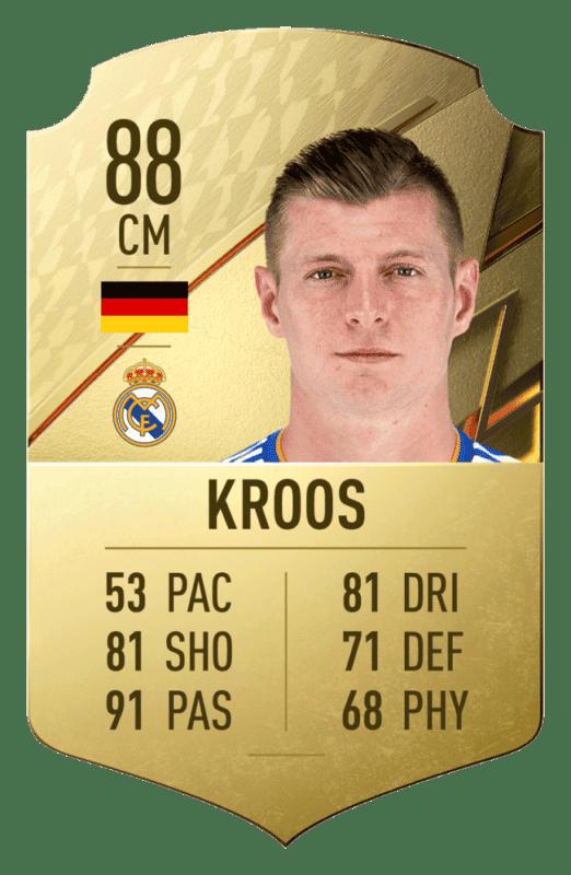 FIFA 22 medias: estos son los 20 mejores jugadores de la Liga Santander en Ultimate Team Toni Kroos