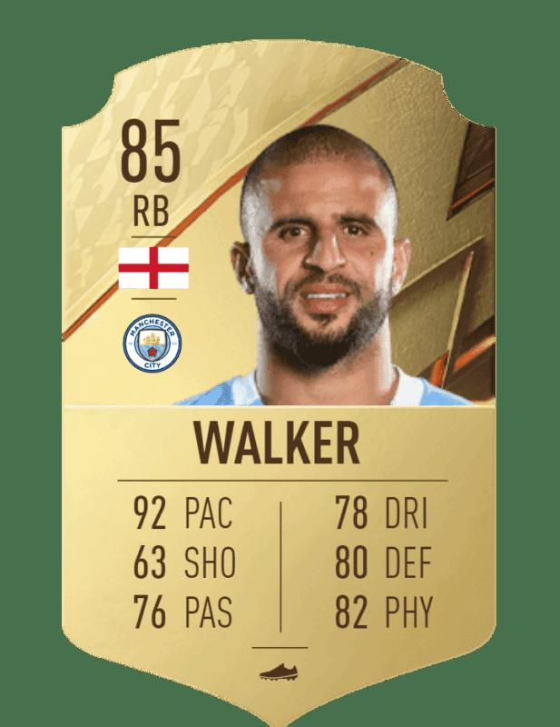 FIFA 22 medias: estas son todas las cartas reveladas del Manchester City Ultimate Team Walker