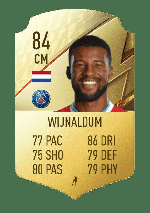 FIFA 22 medias: estas son las cartas oficiales del PSG en Ultimate Team Wijnaldum