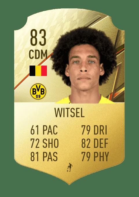 FIFA 22 medias: estas son las cartas del Borussia Dortmund Witsel