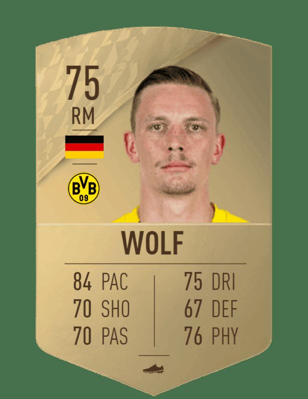 FIFA 22 medias: estas son las cartas del Borussia Dortmund Wolf
