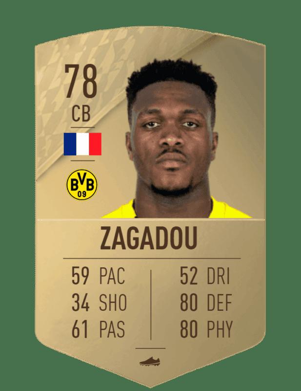 FIFA 22 medias: estas son las cartas del Borussia Dortmund Zagadou