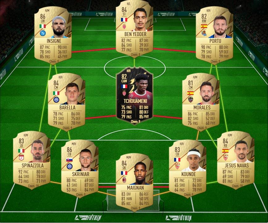 FIFA 22: equipo híbrido muy competitivo por poco más de 100.000 monedas Ultimate Team