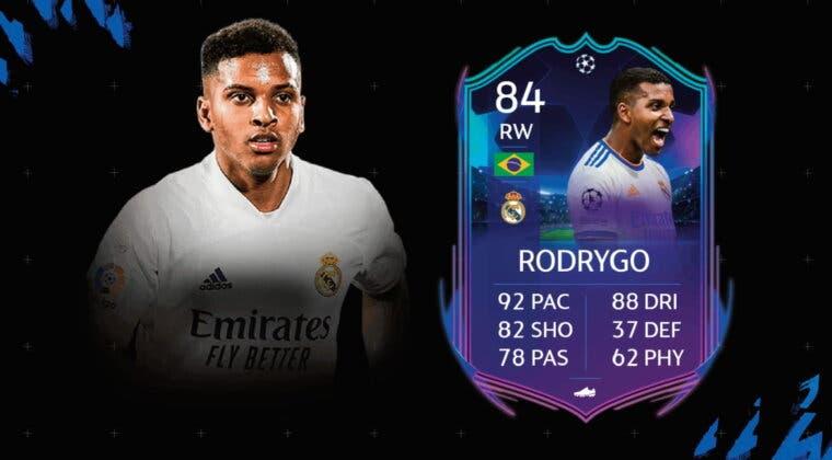 Imagen de FIFA 22: ¿Carta top o demasiado cara? Review de Rodrygo RTTK
