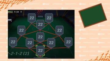 Imagen de FIFA 22: tácticas e instrucciones de la 4-1-2-1-2 (2), una formación para partidos muy acelerados