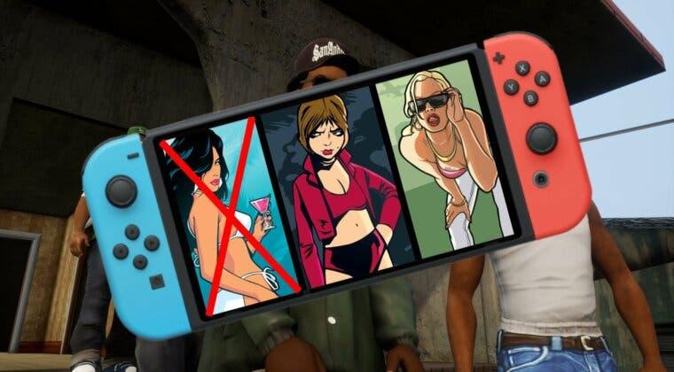 Imagen de La versión física de GTA Trilogy en Nintendo Switch requiere descarga adicional