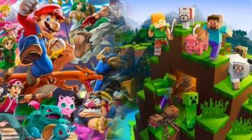 Imagen de Recrean todos los personajes de Super Smash Bros. Ultimate en Minecraft y así es el resultado