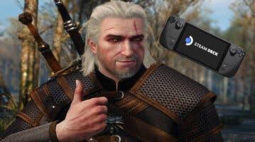 Imagen de Así de espectacular luce The Witcher 3 en una Steam Deck en su modo portátil