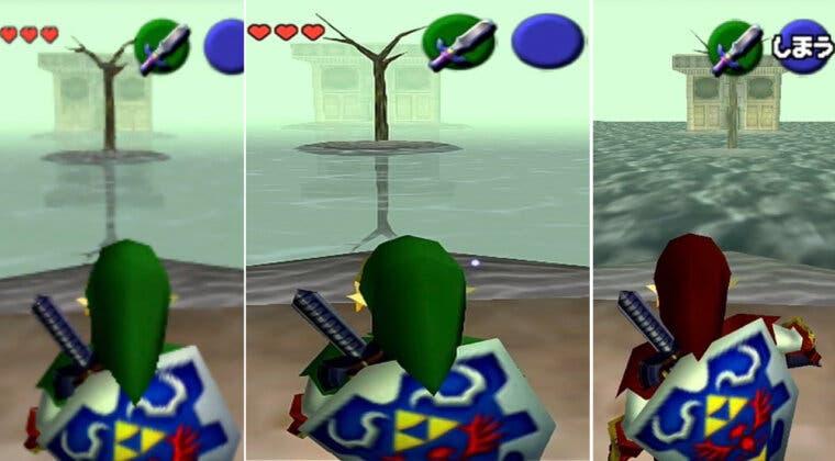 Imagen de Así se ve Zelda: Ocarina of Time en Nintendo Switch comparado con N64 y Wii